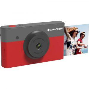 AgfaPhoto Mini Shot Direktfilmskamera Digital Svart/Röd Bluetooth, Integrerat batteri