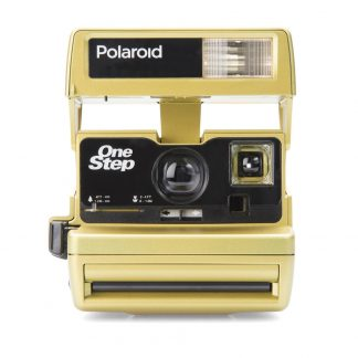 Custom Polaroid 600 Camera, Chrome Gold