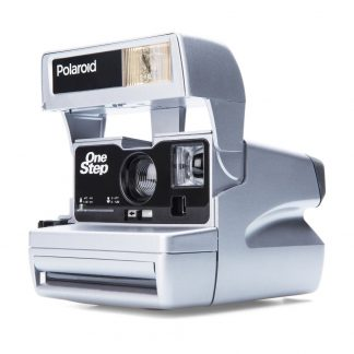 Custom Polaroid 600 Camera, Chrome Silver