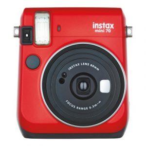 Direktfilmskamera Fujifilm Instax Mini 70 - Röd