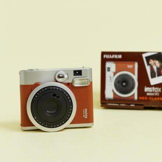 Fujifilm - Instax Mini 90 - Brun direktbildskamera-Flerfärgad