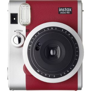 Fujifilm Instax Mini 90 Neo Red Direktfilmskamera Röd, Silver Optisk bildavsökare, med inbyggd blixt