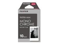 Fujifilm Instax Mini Monochrome - Svartvit film för snabbframkallning - instax mini - ISO 800 - 10 exponeringar