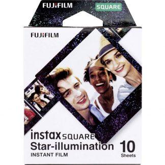 Fujifilm Instax Square Star Illumination Direktbildsfilm Svart