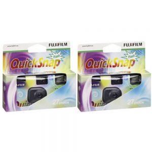Fujifilm Quicksnap Flash 27 Engångskamera 2 st med inbyggd blixt