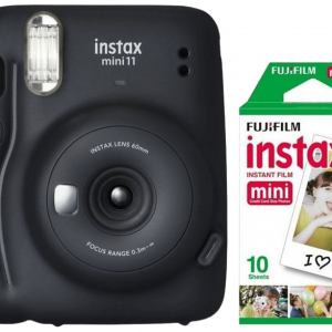 INSTAX Mini 11 Charcoal Gray + Mini Film 10-pack - Bundle