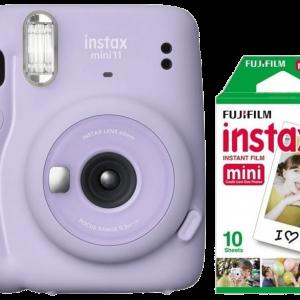 INSTAX Mini 11 Lirac Purple + Mini Film 10-pack - Bundle