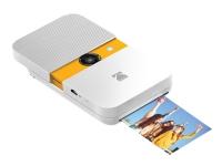 Kodak Smile - Digitalkamera - kompakt med PhotoPrinter / 10.0 MP (interpolerat) - vit/gul