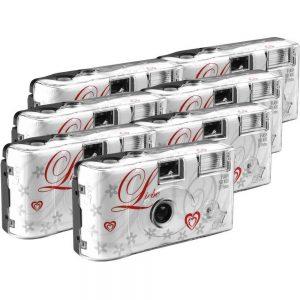 Love White Engångskamera 7 st med inbyggd blixt