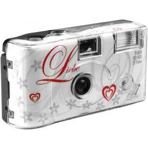 Love White Engångskamera 1 st med inbyggd blixt