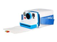 Polaroid - Bärväska för kamera - polyester - vit, blå - Polaroid Rainbow Branding - för Now