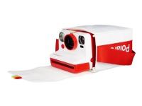 Polaroid - Bärväska för kamera - polyester - vit, röd - Polaroid Rainbow Branding - för Now