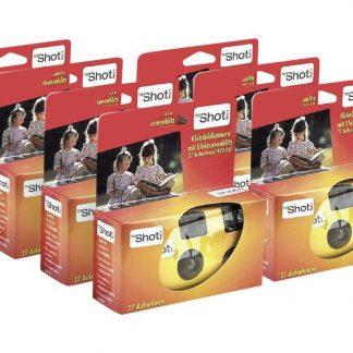 Topshot 400 Flash Engångskamera 7 st med inbyggd blixt