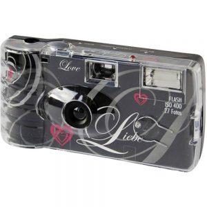Topshot Love Black Engångskamera 1 st med inbyggd blixt
