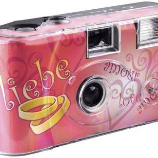 Topshot Love Hearts Black Engångskamera 1 st med inbyggd blixt