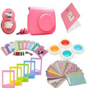 eStore Tillbehörsset för Fujifilm Instax Mini 8 / 9 - Flamingo Pink