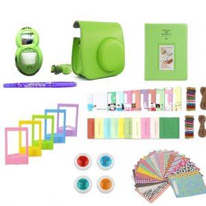eStore Tillbehörsset för Fujifilm Instax Mini 8 / 9 - Lime Green