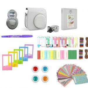 eStore Tillbehörsset för Fujifilm Instax Mini 8 / 9 - Smokey White